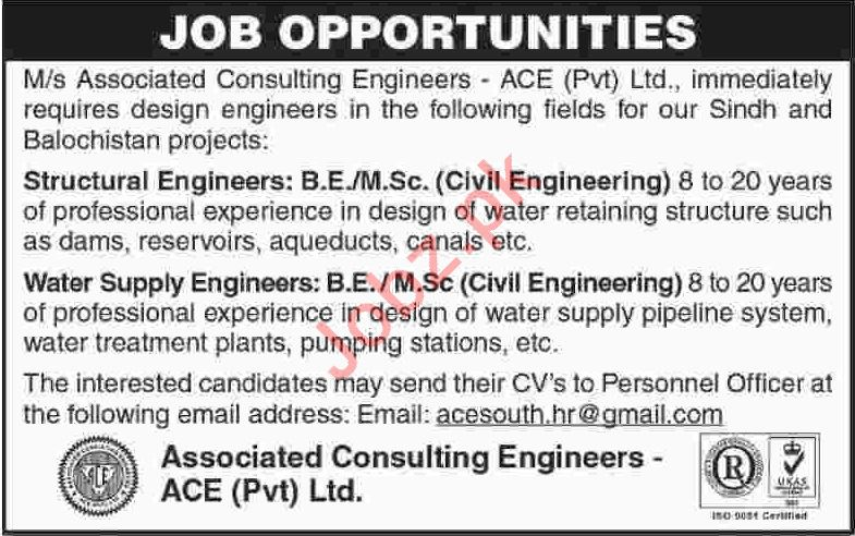 Associated Consulting Engineers ACE Karachi Jobs 2019