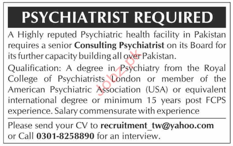 Psychiatrist Jobs 2020 in Karachi