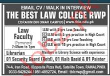 The Best Law College Rawalpindi Jobs
