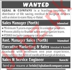Iqbal & Company Management Jobs in Rawalpindi