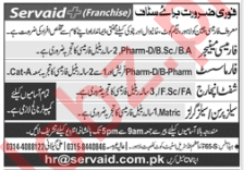 Pharmacy Manager Pharmacist Shift Incharge Jobs in Lahore