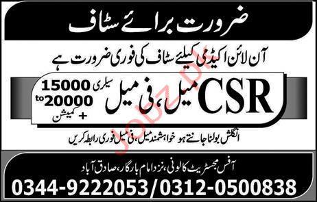 Online Academy Jobs in Rawalpindi