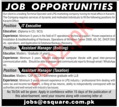 IT Executive Assistant Manager Jobs in Lahore