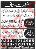Visiting Doctor Branch Manager Jobs in Lahore