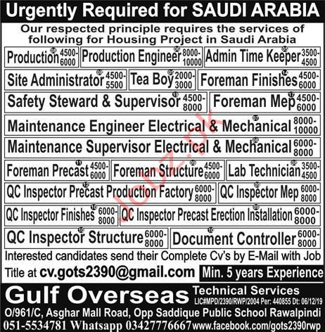 Engineer Jobs for Housing Project in KSA