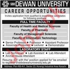 Dewan University Professor Jobs 2020