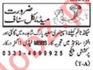 Nawaiwaqt Sunday Classified Ads 8th Dec 2019 Medical Staff