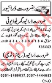 Nawaiwaqt Sunday Classified Ads 8th Dec 2019 Driving Staff
