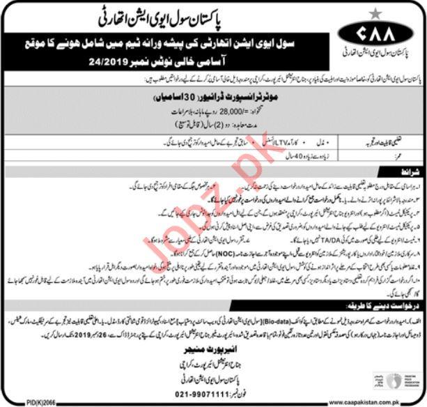 Jinnah International Airport PCAA Jobs 2019 in Karachi