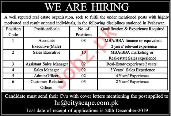 Real Estate Organization Jobs 2019 in Peshawar KPK