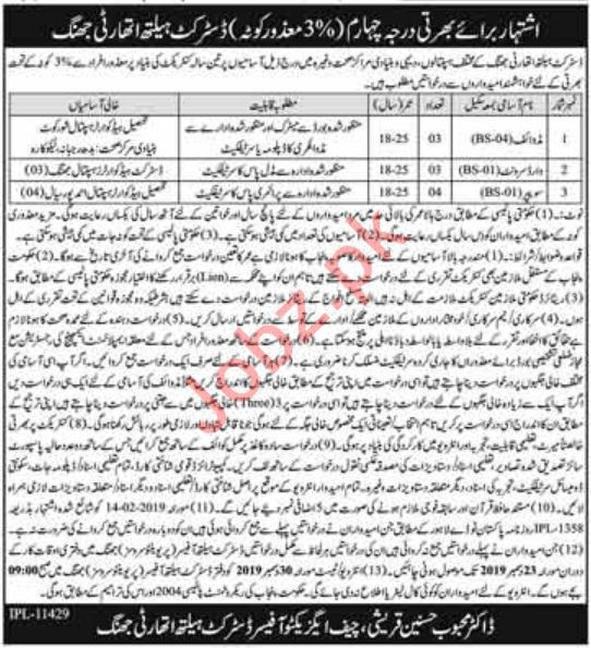 District Health Authority Jobs 2019 in Jhang