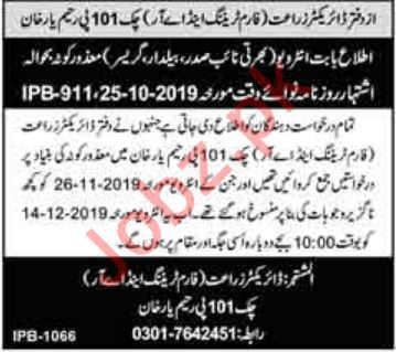 Agriculture Department Walk In Interviews 2019
