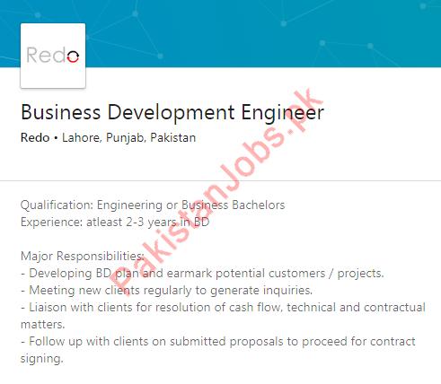 Business Development Engineer Job 2019 in Lahore