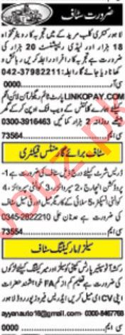 Data Entry Operator & Receptionist Jobs 2019 in Lahore