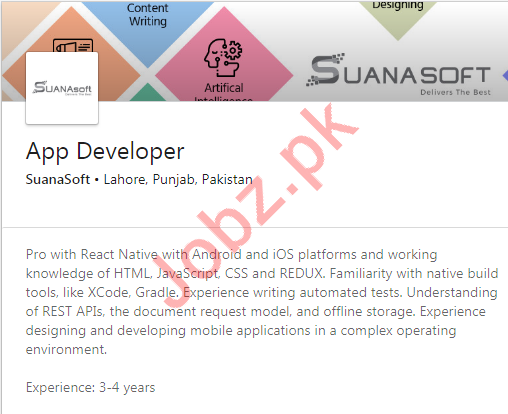 App Developer Jobs in SuanaSoft