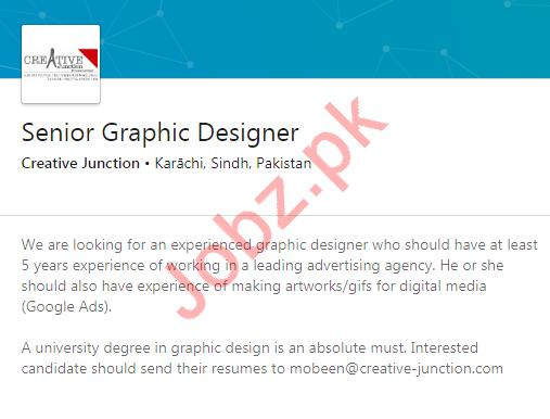 Creative Junction Job For Senior Graphic Designer