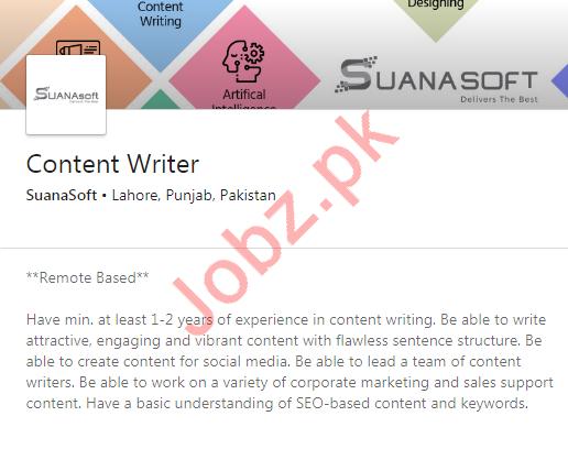 Content Writer Job 2020 in Lahore