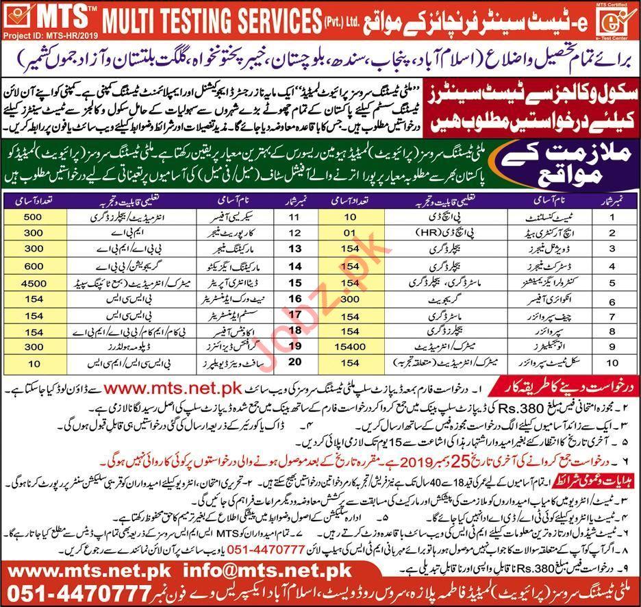 Multi Testing Services Pvt Ltd Jobs 2020
