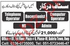 Computer Operator & HR Officer Jobs 2020