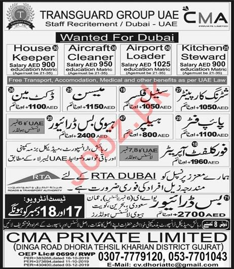 Docket Man & Lift Operator Jobs 2020 in UAE