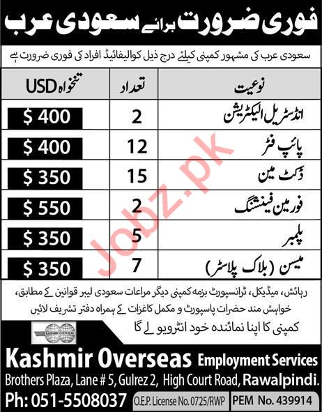 Industrial Electrician & Pipe Fitter Jobs 2020