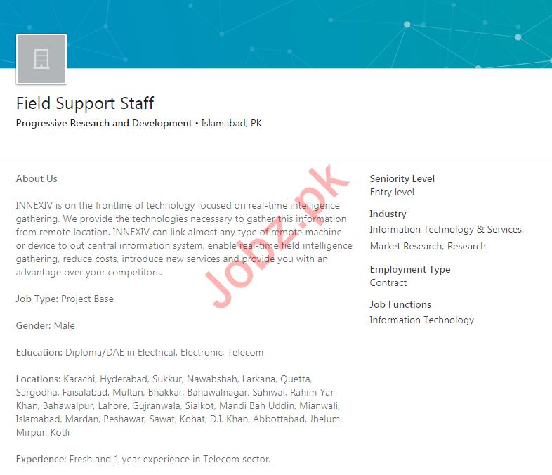 Field Support Staff Jobs 2020