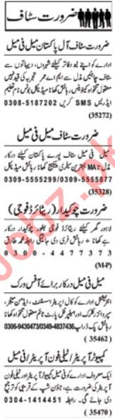 Daily Nawai Waqt Management Staff Jobs 2020 in Lahore