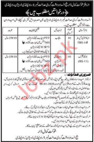 Anti Terrorism Court ATC Jobs For Rawalpindi Division