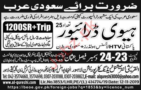 Heavy Duty Driver Jobs in KSA