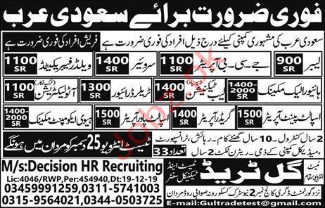 Decision HR Recruitment Jobs in Saudi Arabia