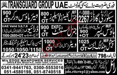 Edge Manpower Services Jobs in UAE