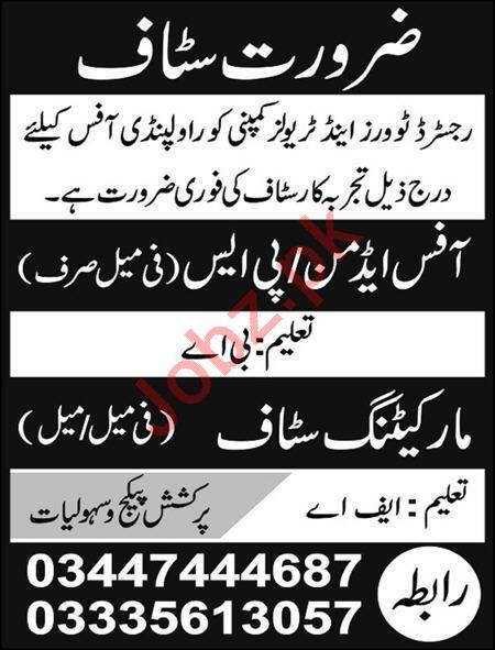 Tour and Travel Company Jobs 2020 in Rawalpindi