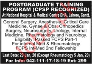 National Hospital & Medical Center Jobs 2020 For Trainees