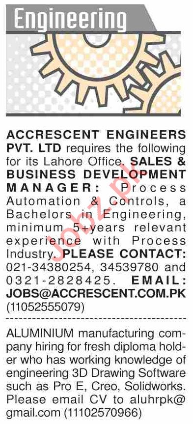 Dawn Sunday Classified Ads 22 Dec 2019 for Engineering Staff