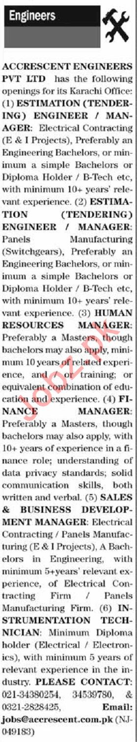 The News Sunday Classified Ads 22 Dec 2019 Engineering Staff