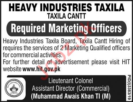 Heavy Industries Taxila Jobs For Marketing Officers