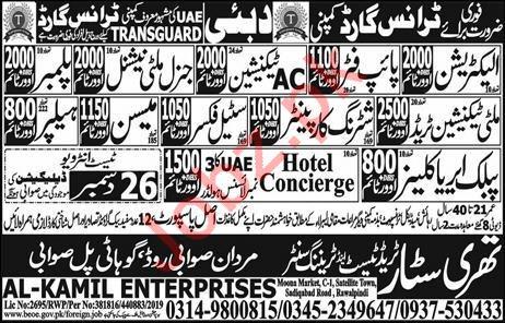 Tranguard Company Jobs 2020 in Dubai UAE