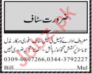 Daily Jang Miscellaneous Staff Jobs 2020 in Multan