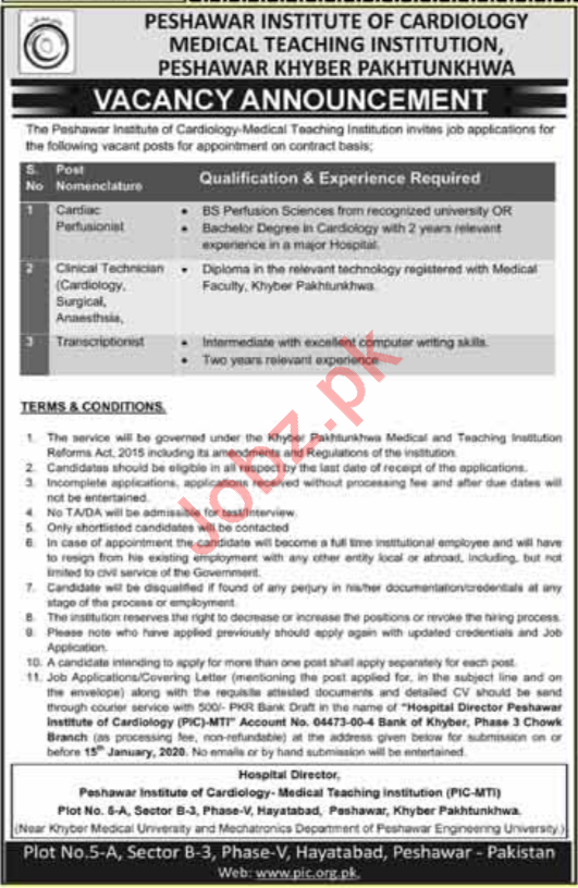 Medical Teaching Institution MTI PIC jobs 2020