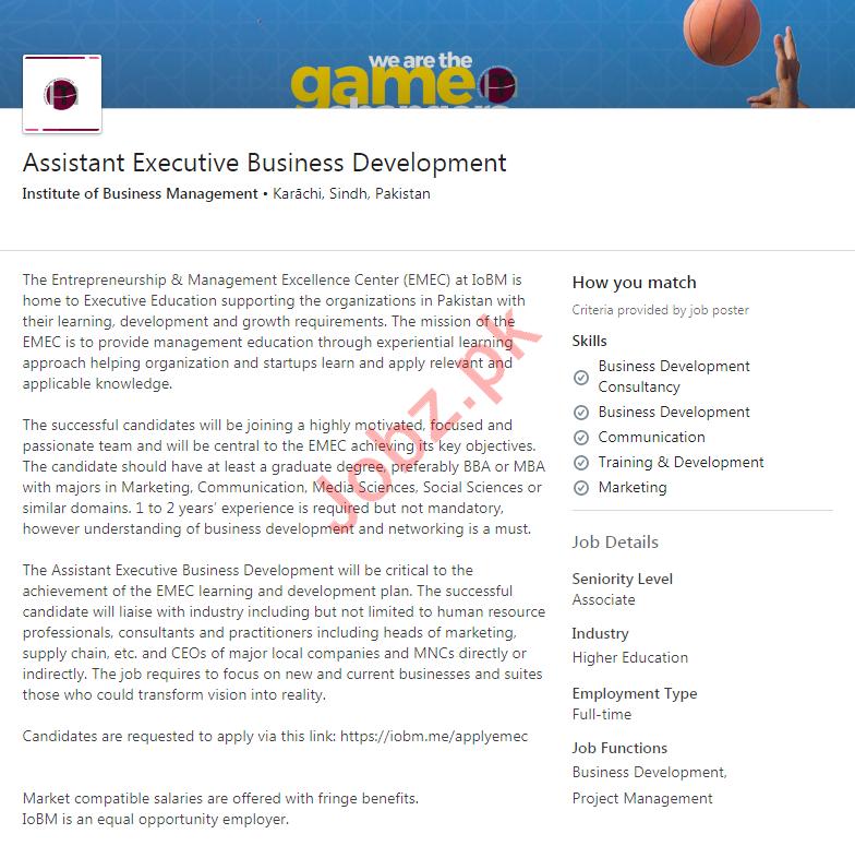 Institute of Business Management IoBM Karachi Jobs 2020