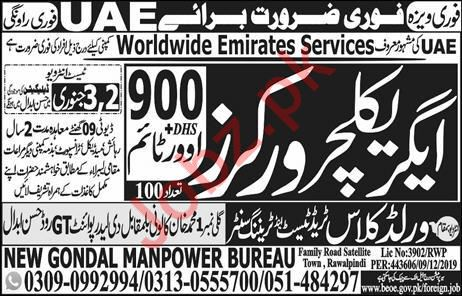 Worldwide Emirates Services Company Jobs 2020 For UAE