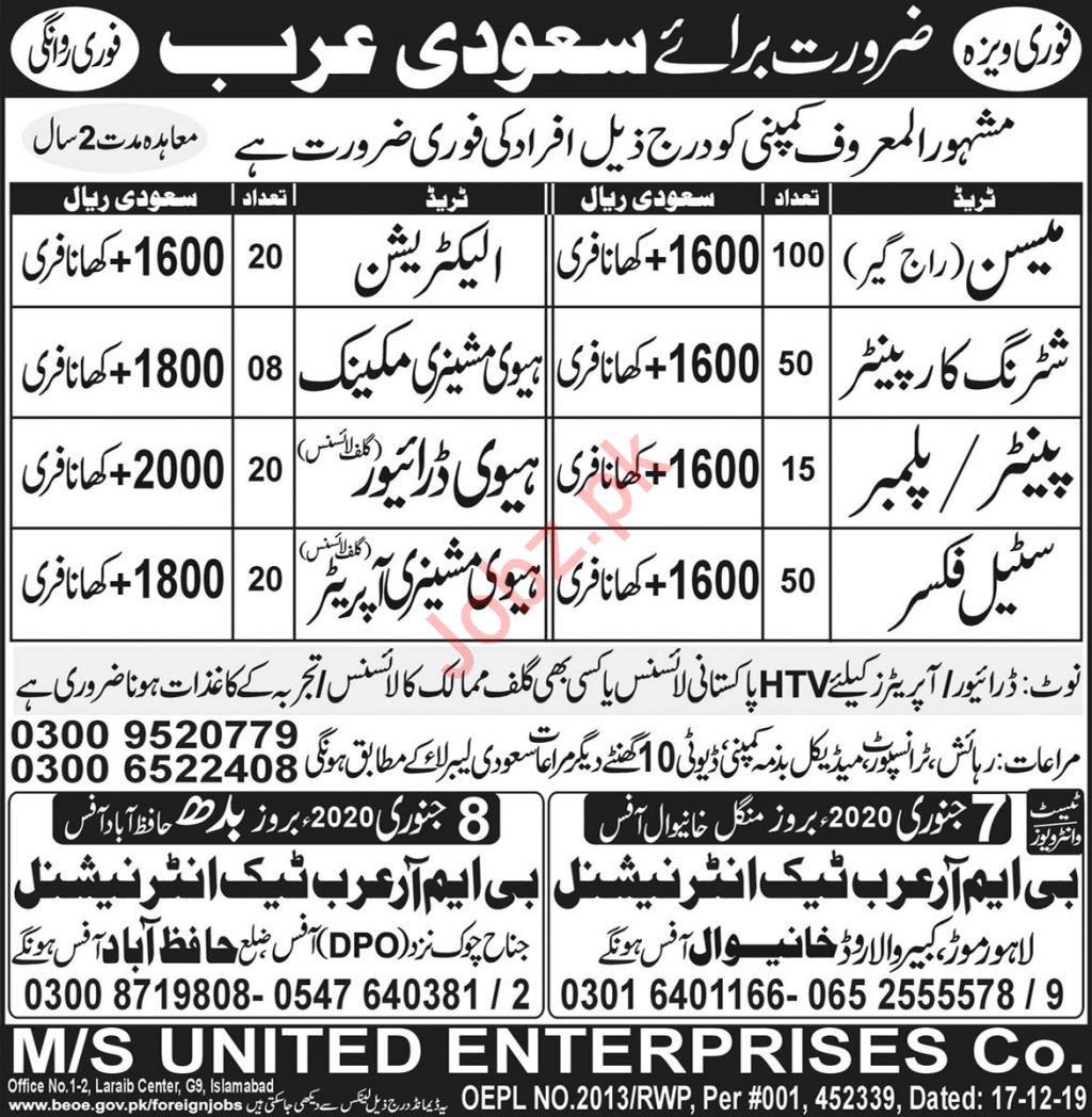 Heavy Machinery Mechanic Electrician Jobs in Saudi Arabia