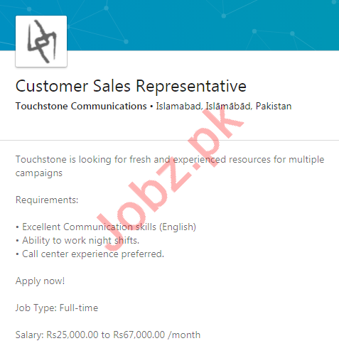 Sales Representative Jobs in Touchstone Communications