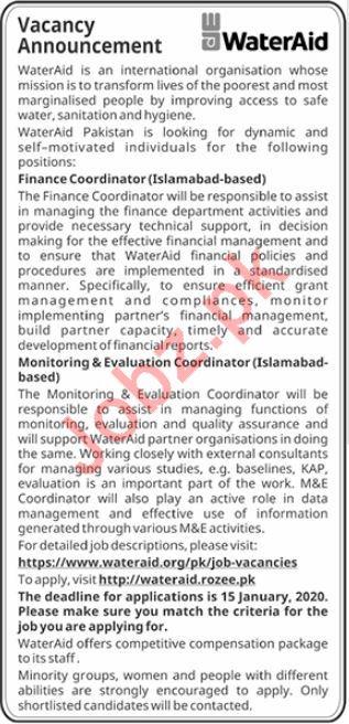 Water Aid International Organization Management Jobs 2020
