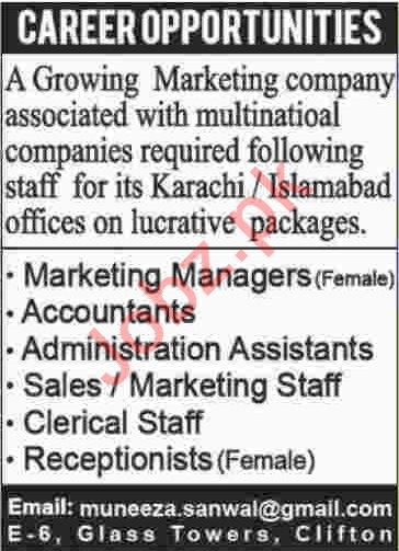 Marketing Company Jobs 2020 in Karachi & Islamabad