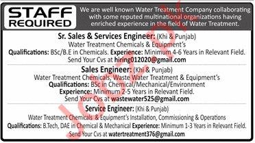 Water Treatment Company Jobs 2020 in Karachi & Lahore