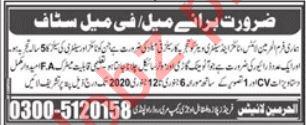 Al Harmain Lights Rawalpindi Jobs 2020 for Female Salesman