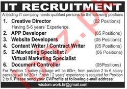 Creative Director & App Developer Jobs 2020 in Lahore