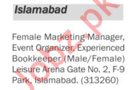 Marketing Manager & Event Organizer Jobs in Private Company