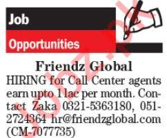 Call Center Staff Jobs in Friendz Global